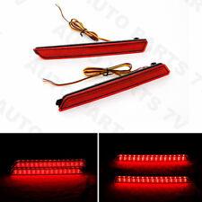 Pair LED Rear Bumper Reflector Lamp Tail Fog Brake Light For Mazda 3 2004-2009