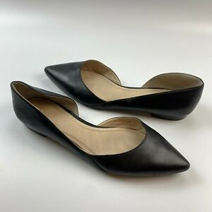 Marc Fisher Sunny D'orsay Flats Size 10M Black Patent Leather Pointy Toe Skimmer
