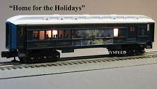"""LIONEL THOMAS KINKADE """"HOME FOR THE HOLIDAYS PASSENGER CAR"""" o ga train 6-81395 H"""