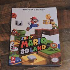 Super Mario 3D Land Premiere Edition Prima Strategy Guide Nintendo DS NDS 3DS