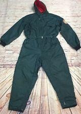 Men's Vintage Skidoo Snowmobile Suit Bibs Green Size XL Waterproof Lined