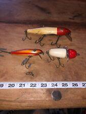 Vintage Shakespeare Fishing Lures 3 W/ Rare Palomine/ Globe/ Mustang