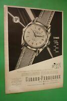1955 Original Advertising' Watch Girard Perregaux Gyromatic Switzerland No Rolex