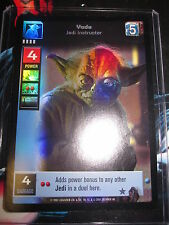 SWCCGYJ CCG YOUNG JEDI REFLECTIONS FOIL MINT SUPER RARE N°2 YODA JEDI instructor