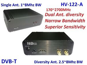 HV-122-A Full HD 2-Way Diversity Digital TV Receiver 170~2700MHz