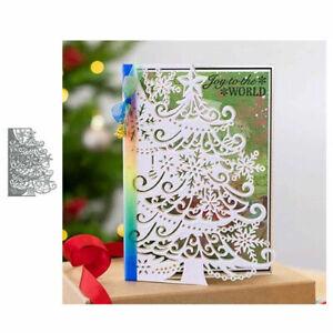 Christmas Tree Edge Metal Cutting Die Scrapbook Album Paper Embossing Craft Dies