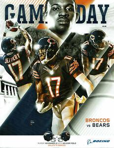 Chicago Bears 2015 Gameday Program Vs Denver Bronvcos Alshon Jeffery Nov, 22