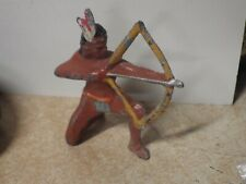 VINTAGE MANOIL BARCLAY LEAD TOY SOLDIER WESTERN INDIAN SHOOTING BOW & ARROW