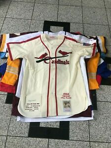 Stan Musial Signed Authentic 1944 Mitchell & Ness Cardinals Jersey  Holo COA