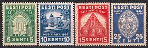 Brigitte's Monastery Pirita Complete Set Estonia Estland Mint MNH OG Stamps 1936