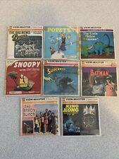 Vintage View-Master 8 pc lot Batman,Kong,Brady bunch,popeye Superman,snoopy more