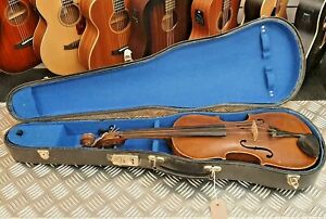 Antique German-made Hopf Violin with case (7/8 size?)