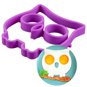 Cute Silicone Egg Mold Owl Pan Fried Eggs Ring Shaper Molds For Kitchen Nonstick