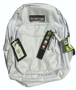 Jansport Backpack Light Baby  Blue Bag Laptop NEW Trans Defects