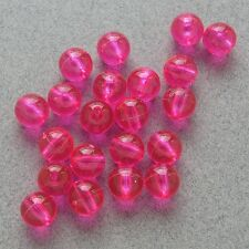 8mm 200 Count Round Fluorescent PINK Beads USA Fishing Tackle Free Shipping