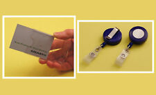 Single Card Kit: Rigid Holder & Blue Plastic Badge-Reel