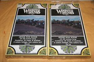 WOODLAND SCENICS  2 PCS #24 HEDGE ROW KIT NEW