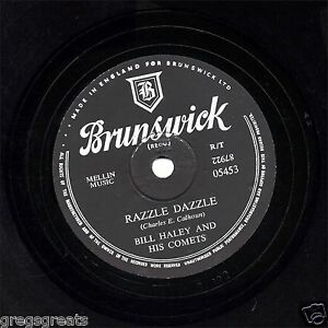 Bill Haley 78 Razzle Dazzle / Deux Hound Chiens Argent GB Brunswick 05453 E V +