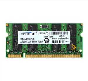 Crucial 8GB 4GB 2GB 2RX8 PC2-6400 DDR2-800MHz 200pin SODIMM Laptop Speicher