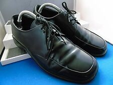 PRADA DESIGNER BLACK LEATHER TWIN DERBY WORK SHOES UK 6.5 EU 40.5 US 7.5