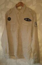Billionaire Boys Club nuova era del Giappone Militare Camicia Lino ramiè Medium V. RARE UK