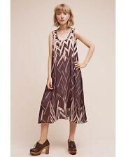 $188 nwt ANTHROPOLOGIE FLOREAT sz L SERENGETI MIDI DRESS silk lined black pink