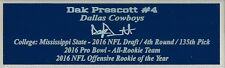Dak Prescott Autograph Nameplate Dallas Cowboys Helmet Photo Ball Jersey