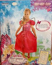 Barbie Mariposa & Fairy Princess Vestito Costume Carnevale 3-5 Anni 104cm Nuovo