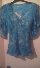 Pure Silk Coast Turquoise/Cream Kaftan sz10. So Pretty!