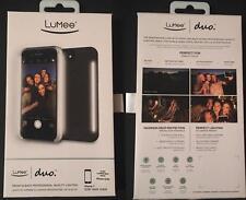 New LUMEE Duo Dual Selfie LED Lighting Black Matte Case for iPhone 7 6