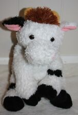TySilk Classic Buttermilk Cow White, Black & Brown 2006 Plush Stuffed Animal