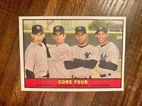 2010 Topps Heritage #411 Core Four SP Jeter Posada Rivera Pettitte NYY Yankees