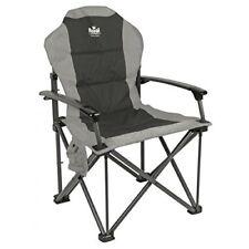 Royal Commander Chair Black/grey- Padded Camping Armchair - Caravan Campervan