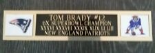 Tom Brady 6x Superbowl Champion Engraved Name Plate