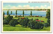1940 Lake Nokomis Park, Minneapolis, MN Postcard
