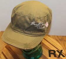 WOMENS BANFF SPRINGS CANADA HAT CADET/MILITARY STYLE GREEN ADJUSTABLE VGC RX