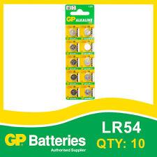 GP Alkaline Bouton Batterie 189 (LR54) Carte de 10 [Watch & calculatrice + autres]