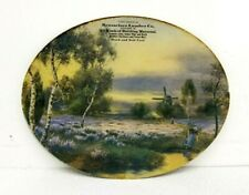 "Vintage Flue Cover Dutch Windmill Scene ""Compliments of Rensselaer Lumber Co"""