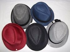 Men's Wool Cotton Polyester Acrylic Dress Hats, Assorted Colors and Sizes