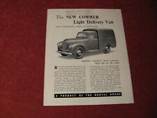 1948 Commer Pickup Truck van Sales Brochure Booklet Catalog Book Old