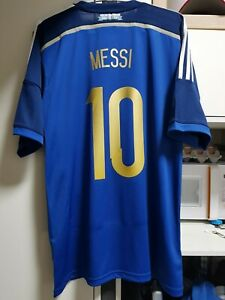 2014 Argentina Away L Lionel Messi #10 World Cup Final Match Details *BNWT*