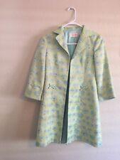 NANETTE LEPORE Multicolor Bow Coat Jacket Sz 4 Petites 3/4 Sleeves