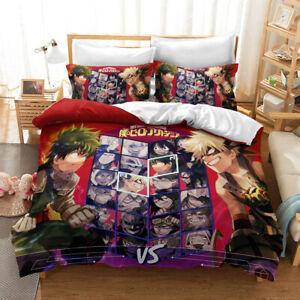 Anime My Hero Academia Single/Double/King/Queen Bed Doona/Quilt/Duvet Cover Set