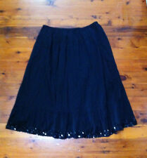 STYLISH MY SIZE BLACK FULL SKIRT WITH SEQUINS BOTTOM SZ: M NEAR NEW