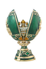 Russian Faberge Egg Christ the Saviour Cathedral Moscow 2.8'' (7cm) green