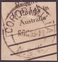 """NSW POSTMARK """"COROBIMILIA"""" DATED 1948 - POST OFFICE CLOSED 1988 (A11106)"""