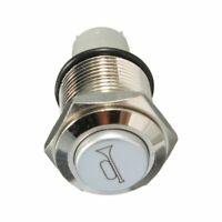 1X(12V 16mm Auto LED-Licht Momentan Hupenknopf Metallschalter Druckknopf Ro T4A8