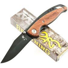 Browning Cocobolo Wood Handles Folding Framelock Pocket Knife BR069