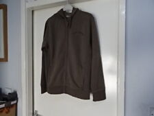 MENS TED BAKER ZIP UP BROWN HOODIE SWEAT TOP SIZE 2 GREAT CONDITION