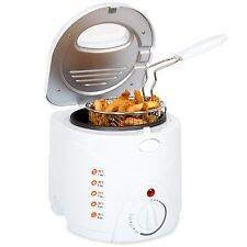 Classic Cuisine Cool Touch Small 1 Liter Deep Fryer with Wire Basket